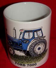 BN Ford 7000 Vintage Tractor Gift Mug, Stoneware Mug, 1/2 pint Mug, Tractor Mug