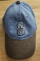 Seattle Mariners New Era 9TWENTY Adjustable Strapback Baseball Hat Cap Blue Gray
