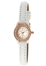 New Invicta 14691 Angel Small Dial Rose Gold Case White Leather Watch