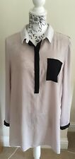 Nude Dorothy Perkins Tunic Blouse Size 16