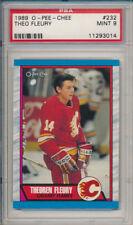 Theo Fleury 1989 89-90 O-Pee-Chee OPC Hockey #232 Rookie Card rC PSA 9 Mint
