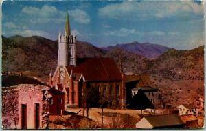 "Virginia City, Nevada Postcard ""ST. MARY'S IN THE MOUNTAINS"" Church 1953 Cancel"