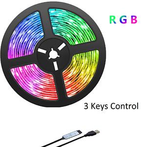 USB Powered LED Lights Strips RGB Color Changing LED TV Backlights Home Decor
