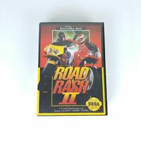 Road Rash II 2 Sega Mega Drive Genesis Game Cartridge - Complete - Free Postage