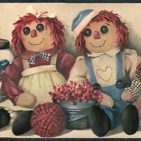 Raggedy Ann & Andy Dolls Wallpaper Border - Chesapeake Borders - A538
