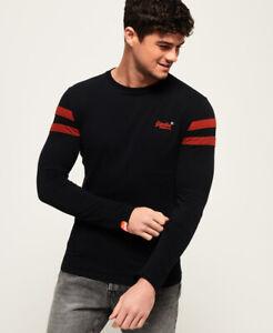 Superdry Herren Orange Label Softball Ringer T-Shirt Größe Xl