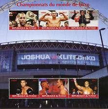 Chad 2017 MNH Boxing Champions of World Muhammad Ali Klitschko 6v M/S Stamps