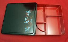 Bento repas fleur bleu élégant Japonais Boîte Déjeuner En plastique haute qualité Housse