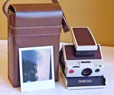 Polaroid White SX-70 Land Camera Model 2, For Repair, Partially Working