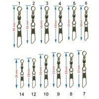 100PCS Fishing Barrel Swivel &Safety Snap Accessories Tackle Connector Combo New