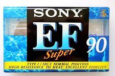 Sony EF Super 90 Normal Position Type I Blank Audio Cassette Tape