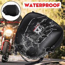 Carbon Fiber Motorcycle Rear Tail Seat Tank Bag Saddle Luggage Waterproof PACK