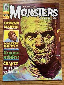 Famous Monsters of Filmland #58 (1969) Basil Gogos Cover VF- Warren Publishing