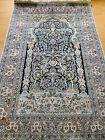 beautiful Indian kashmiri silk rug size 190x123