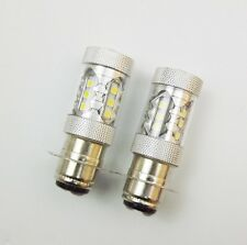 Upgrade 2Pcs for Yamaha H6 80W motorcycle Super HID White LED Headlights Bulbs