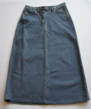 Laura Ashley Denim Skirt A Line 3/4 Length - Sz. 10 UK - EU 34  - W30 - L33 Inch