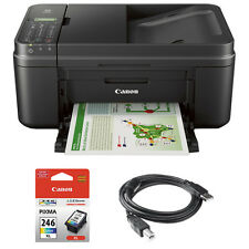 Canon PIXMA MX492 WiFi All-In-One Inkjet Printer w/ Canon COLOR Ink Bundle
