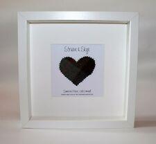 Personalised Harris Tweed box frame,wedding,anniversary,Valentines gift,scottish
