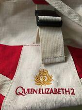Cunard QE2 Queen Elizabeth 2 Red & Cream Holdall