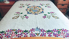 Machine Appliqué floral-quilt Beautiful