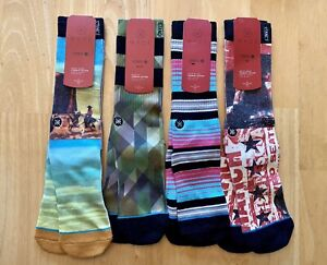 4 Pairs of Stance Mens Dwyane Wade Collection Socks L/XL (9-13)