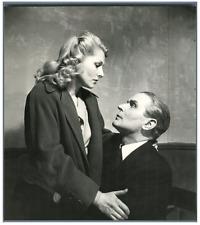 Simone Renaut et Pierre Blanchar  Vintage silver print Tirage argentique  17