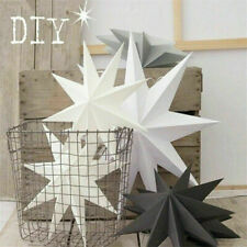 2X 3D Large Paper Star Wedding Party Hanging Bedroom Home Decor Decoration Craft