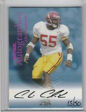 2 Chris Claiborne 1999 Skybox Autographics Red Foil /50 Rookie Signature AUTO RC