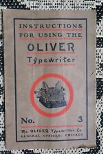 ANTIQUE #3 OLIVER TYPEWRITER INSTRUCTION MANUAL -ORIGINAL