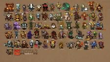 Mini heroes dota 2 Silk poster 14 X 24 inch wallpaper