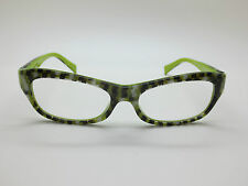 NEW ALAIN MIKLI AL 1010 B079 Checkered Green Limited Edition 52mm Eyeglasses