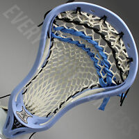 Warrior Evo X 3 HD Lax Strung Lacrosse Head - Carolina/White (NEW) Lists @ $100