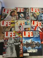 Lot of 8 Vintage Back Issue 1980s LIFE Magazines - The Royal Wedding, Sports