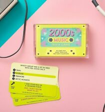 Official 2000s Music Trivia Cassette Quiz Game