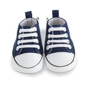 Mud Pie E0 Baby Boy Navy Pre-Walker Tennis Shoes Booties 1532152