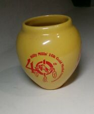 AMERICAN COLLECTORS CERAMIC BOWL BILLY HILLS 40TH  10K GOLD MEDAL ANNIVERSARY