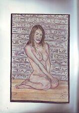 dessin - nu  feminin - 16 x 23 cm