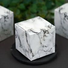 """Black and White Marble 50 pcs FAVOR BOXES 3""""x3"""" Wedding Party Decorations GIFT"""