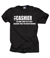 Cashier T-Shirt Gift For Cashier Funny Profession Tee Shirt