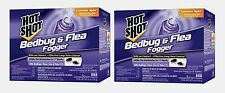 6 - 2oz Cans Hot Shot FOGGER Insect Killer INDOOR Bed Bugs Fleas Ticks Lice Bugs