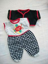 ♫ Vêtements Corolle poupon bébé 30 cm Tenue vintage Babichic collection 1989  ♫