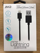 Genuine Jivo 2 metre long USB Sync Charger Cable Lead for iPhone 8 Plus 8+