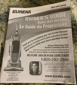 EUREKA UPRIGHT VACUUM CLEANER 8800-8849 SERIES OWNERS GUIDE MANUAL