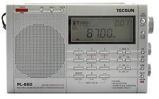 TECSUN PL660 PLL FM/Stereo MW LW SW SSB AIR Band << SILVER COLOR >> PL-660 Radio