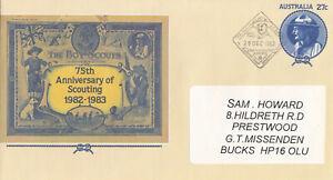 (86700) Australia FDC Postal Stationery Scouts 1982