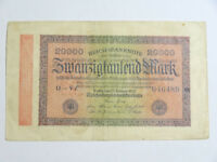 Billet allemand de 20000 mark 1923, reichsbanknote ( reich, mark )