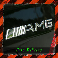 AMG Badge Boot 3d Logo METAL Emblem Rear Decal Mercedes Merc Benz Chrome UK