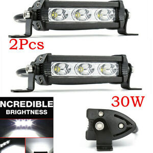 12V 6000LM LED Driving Light 60W Offroad Spot Beam Work Light Fit SUV Car Truck