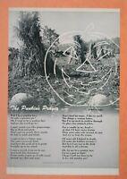 Vintage Halloween Poem Art Decor Punkins Prayer Barton Rees Pogue Jack O Lantern