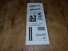 SIMPLE MINDS -Petite Publicité de magazine / Advert SONS AND FASCINATION VINTAGE
